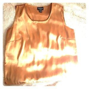 Golden satin-like dressy tank top